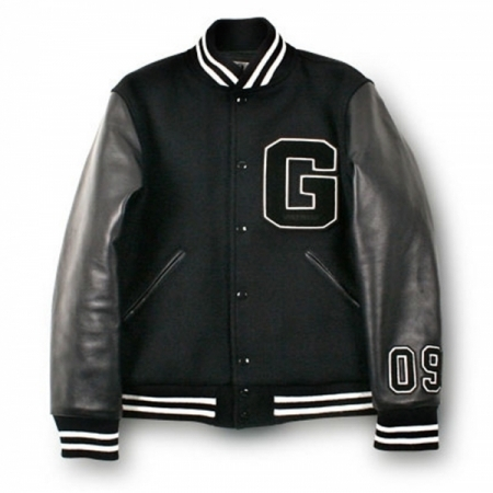 varsity wool leather jackets