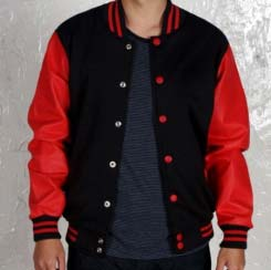 wool leather varsity jacket